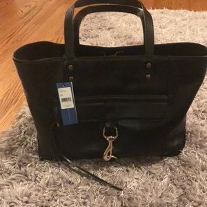 NWT Rebecca Minkoff Bowery Tote in Black Leather